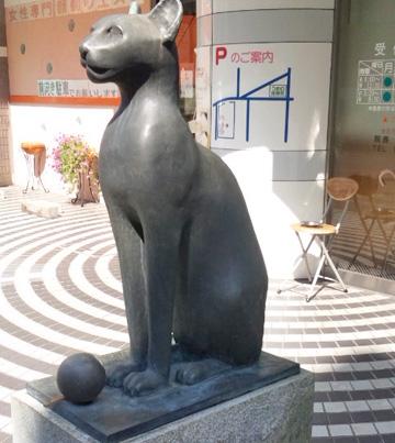 2012年9月 猫の銅像のボールの溶接