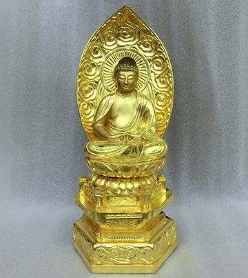 2017年 木製仏像 釈迦如来像のクリーニング