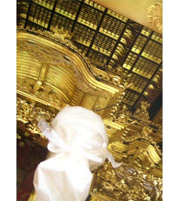 9月23日 金仏壇のクリーニング